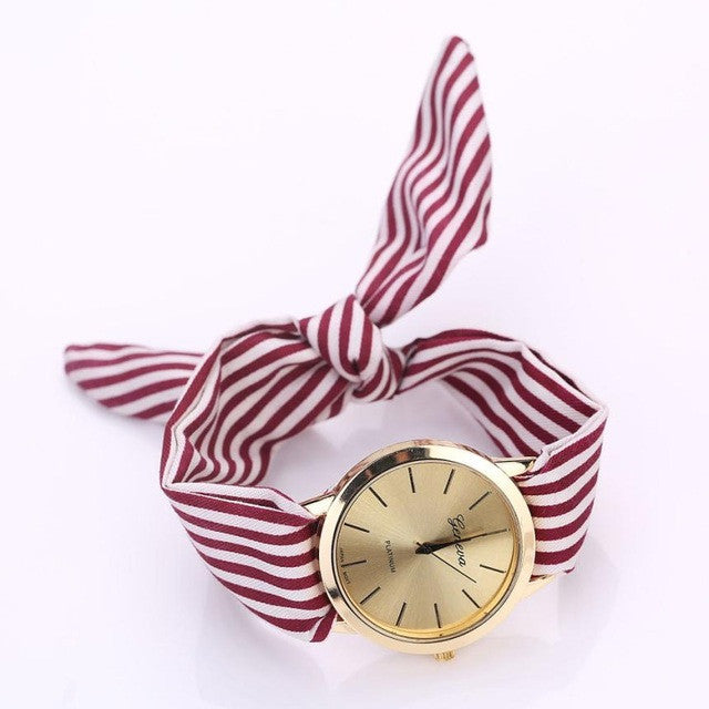 Colorful Fabric Cloth Quartz-Watch, [TopTrends_4U]