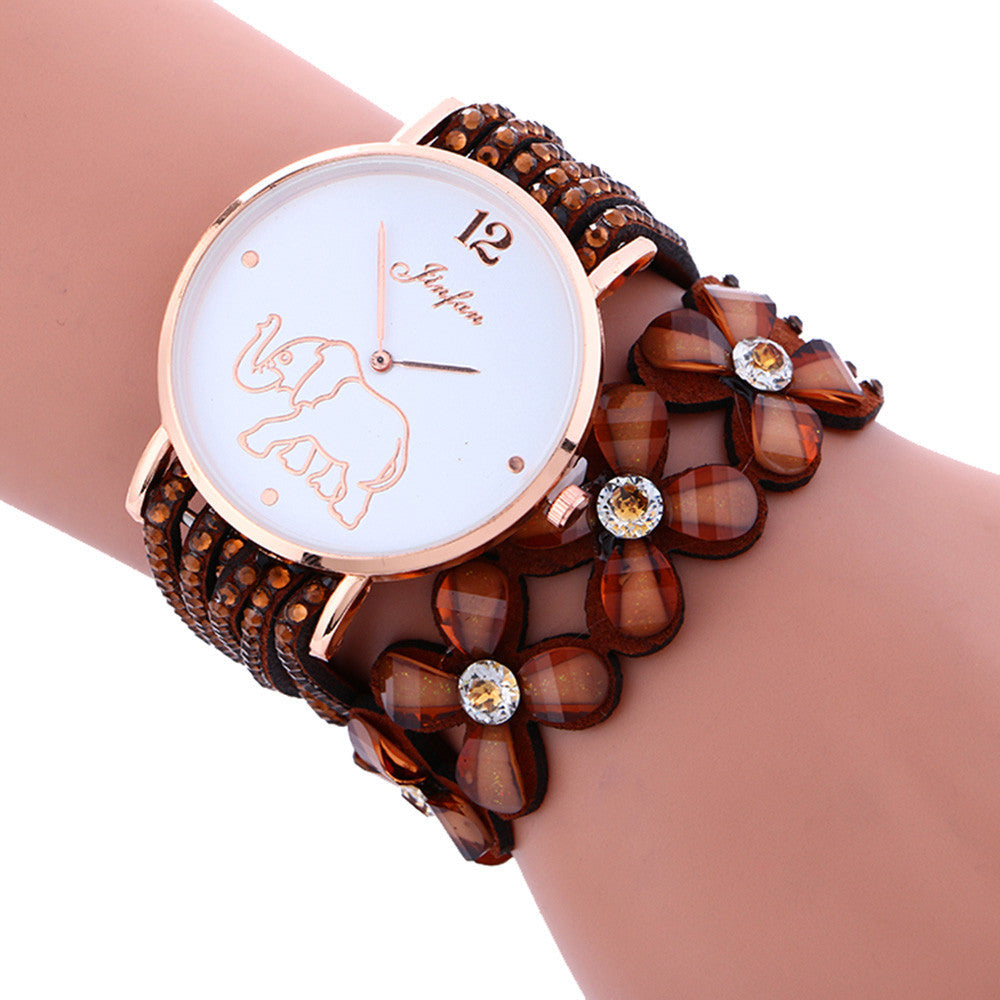 Elephant Pattern Wrist Watch, [TopTrends_4U]