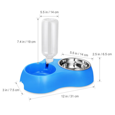 Dual Detachable Dog Bowl, [TopTrends_4U]