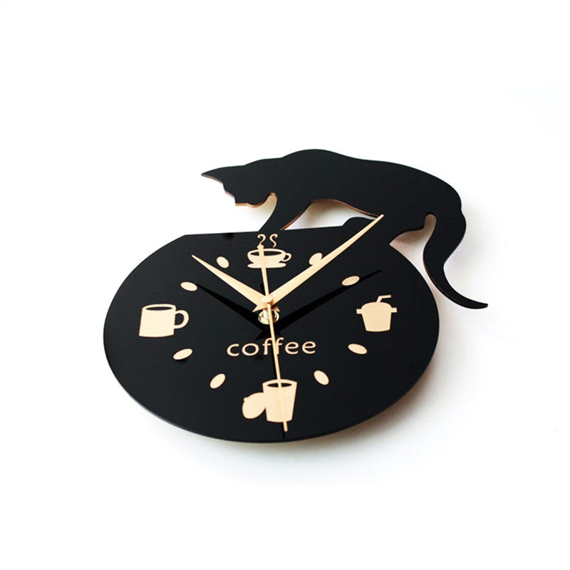 Climbing Cat Wall Clock, [TopTrends_4U]