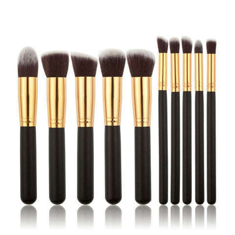 10 Piece Kabuki Brush Set, [TopTrends_4U]