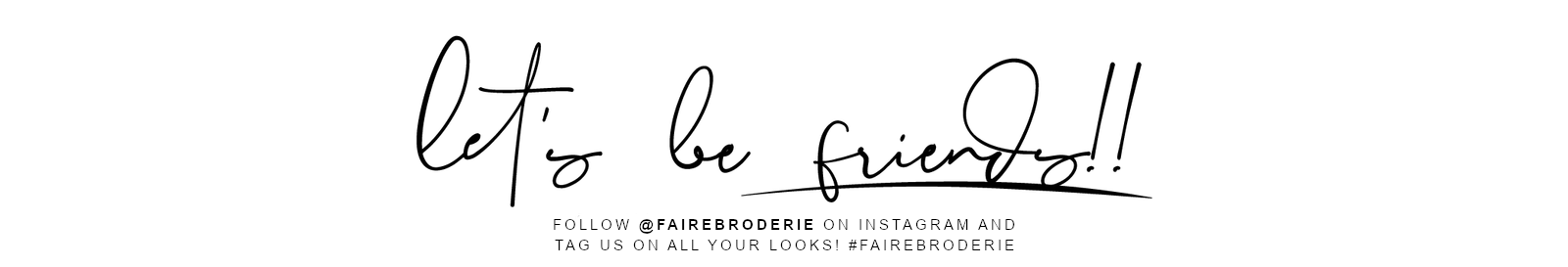 follow faire broderie on instagram