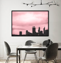 Load image into Gallery viewer, Pink Perth Landscape Print