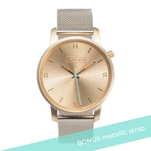 Load image into Gallery viewer, Tyrfing Champagne Gold & Pastel Pink Strap