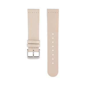 Light pink skin tone leather Hervor watch straps with silver buckle