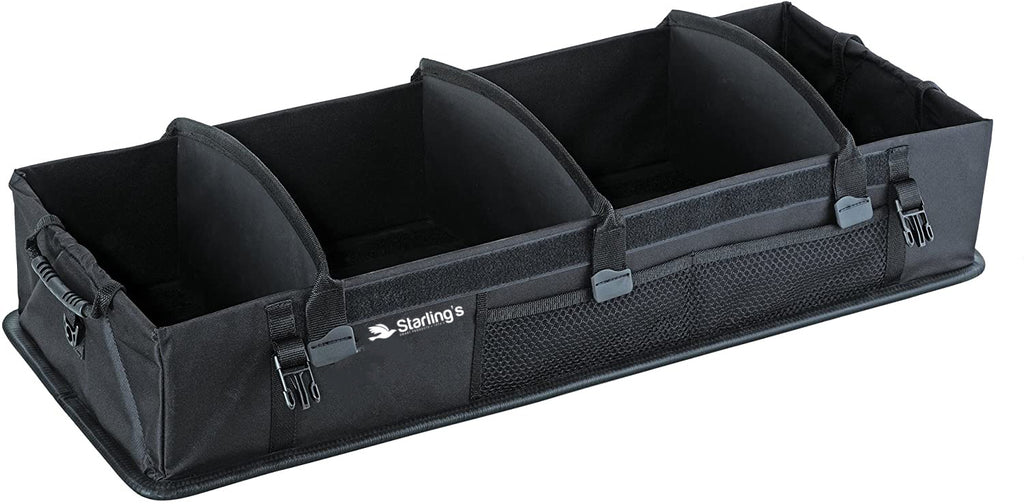 Starling's Car Trunk Organizer - Super Strong, Foldable Storage Cargo Box for SUV, Auto, Truck - Nonslip Waterproof Bottom, Fits any Vehicle