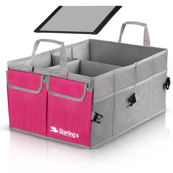 Starling's Car Trunk Organizer Super Strong Adjustable Compartments, Pink [List Price $59.79] [Sale Price $29.97]