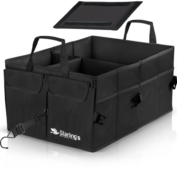 Starling's Car Trunk Organizer Super Strong Adjustable Compartments, Black [List Price $59.79] [Sale Price $29.97]