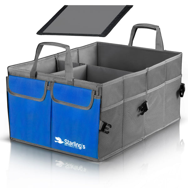 Starling's Car Trunk Organizer Super Strong Adjustable Compartments, Blue [List Price $59.79] [Sale Price $29.97]
