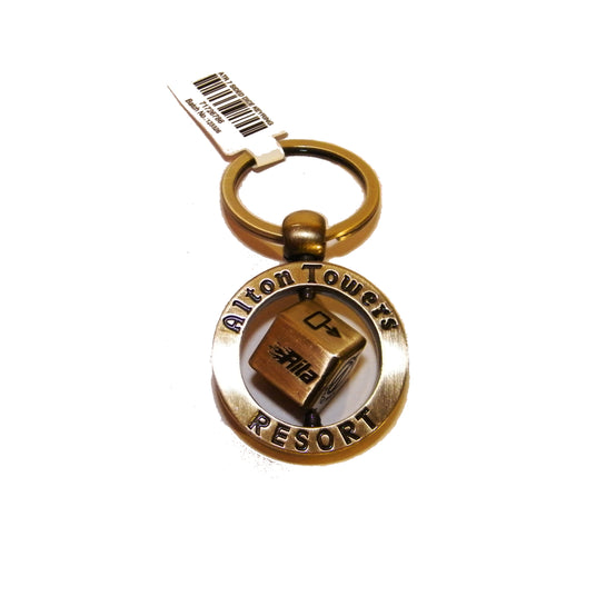 Alton Towers Resort Spinning Bronze Keyring