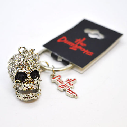 Dungeons Bling Skull and Logo Keyring