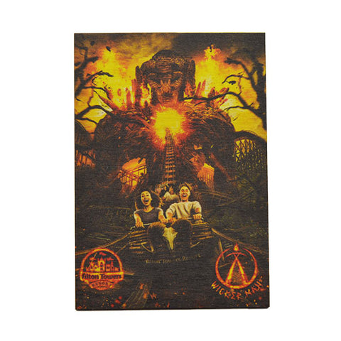 Wicker Man Wooden Magnet