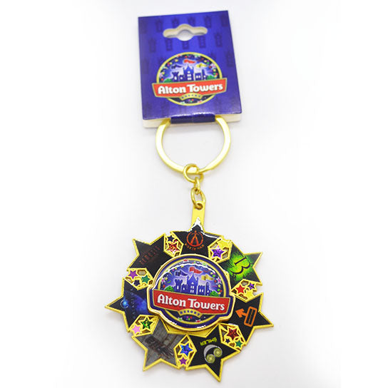 Alton Towers Spinning Stars Keyring