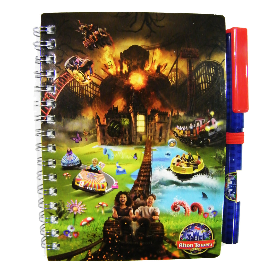 Alton Towers Notepad & Pen Set