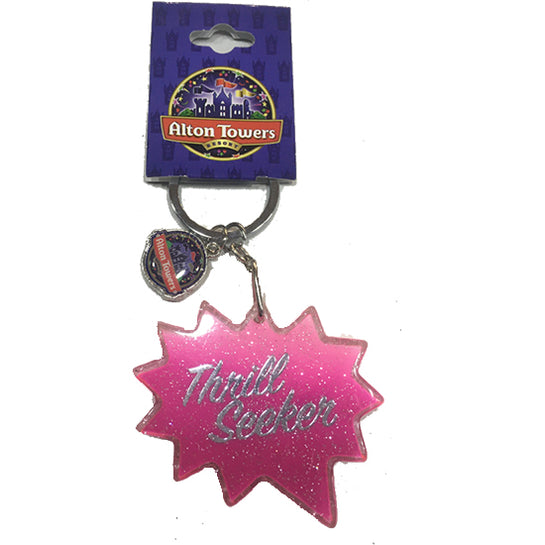 Pink Thrill Seeker Keyring