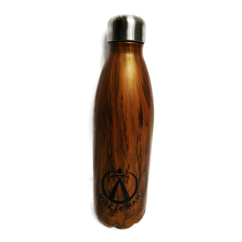 Wicker Man Metal Wood Effect Bottle