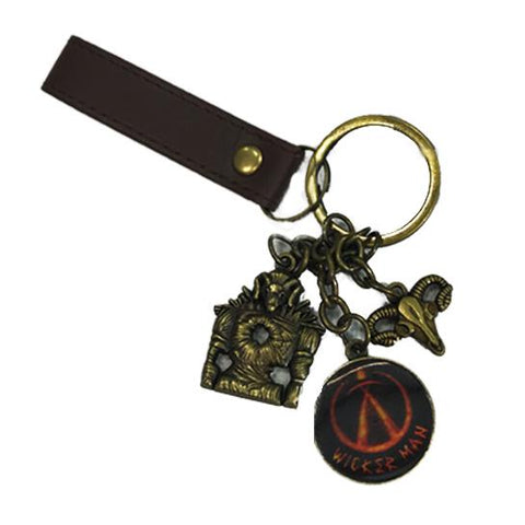 Wicker Man Fob Charm Keyring