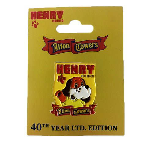 Henry Hound Limited Edition 40th Year Pin Badge