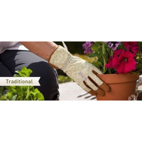 Ethel Traditional Rendezvous Ladies Gardening Gloves.