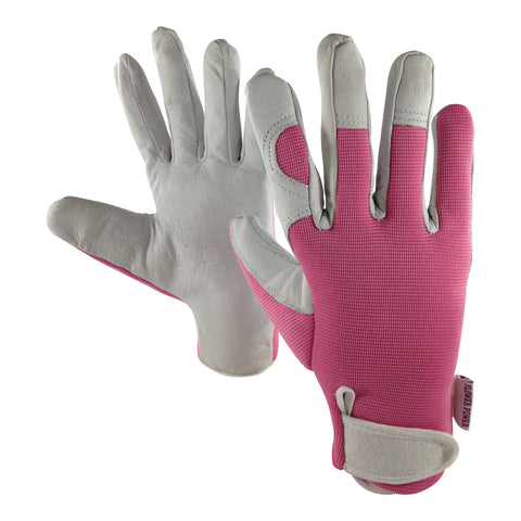 Ladies Leather Gardening Gloves - Ideal for Garden & Household Tasks - Perfect Women's Garden Gift
