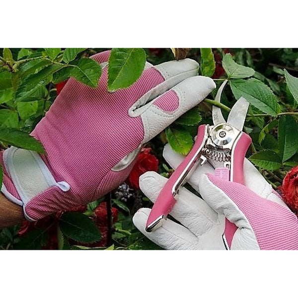 Ladies Gardening Mini Pruner Secateurs Set - Two Razor Sharp Pink Garden Shears - Bypass & Trimmer Secateurs Set - Best Gardening Gift for Women. On Sale Buy NOW!