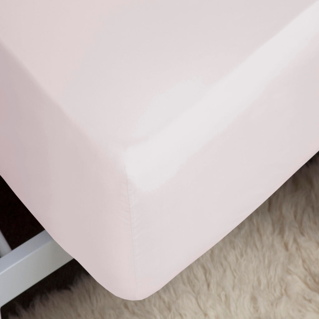 Belledorm Percale 200 Count Fitted Sheet Powder Pink