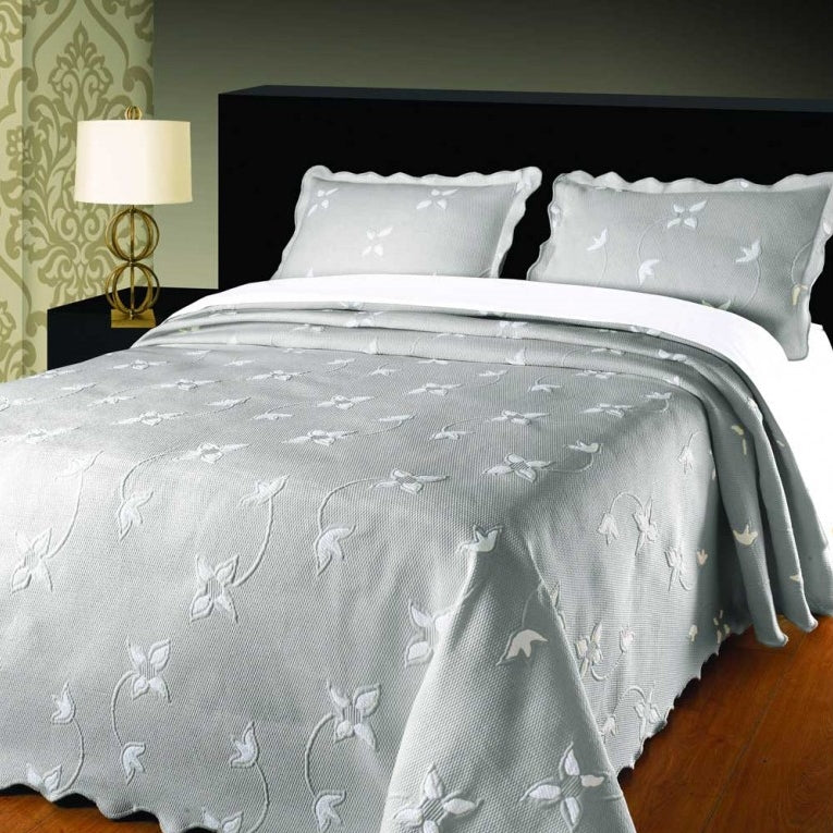 Moda de Casa Julia Soft Touch Bedspread Grey