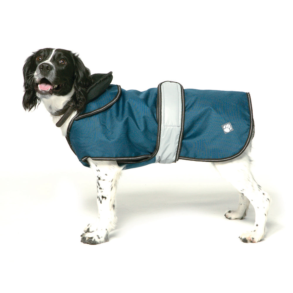 Danish Design Ultimate 4 Seasons 2 in 1 Dog Waterproof Coat Blue