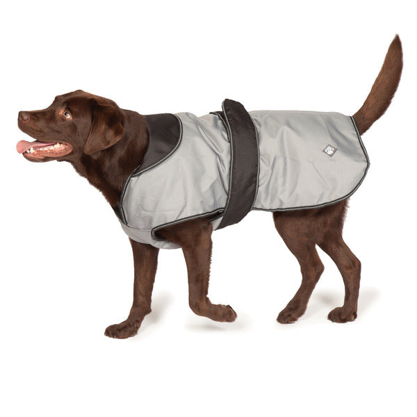 Danish Design Ultimate 4 Seasons 2 in 1 Dog Waterproof Coat Grey