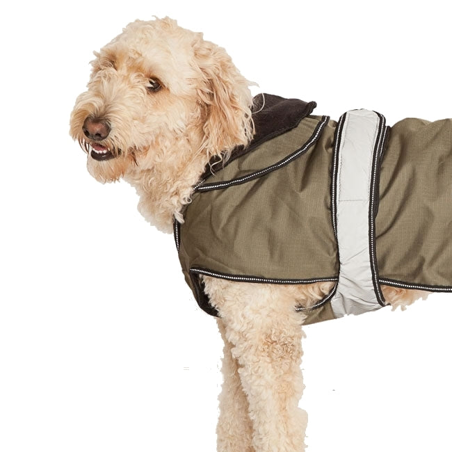 Danish Design Ultimate 4 Seasons 2 in 1 Dog Waterproof Coat Khaki