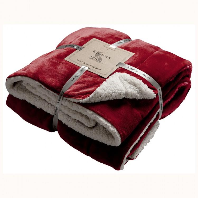 Kilburn & Scott Sherpa Throw Red
