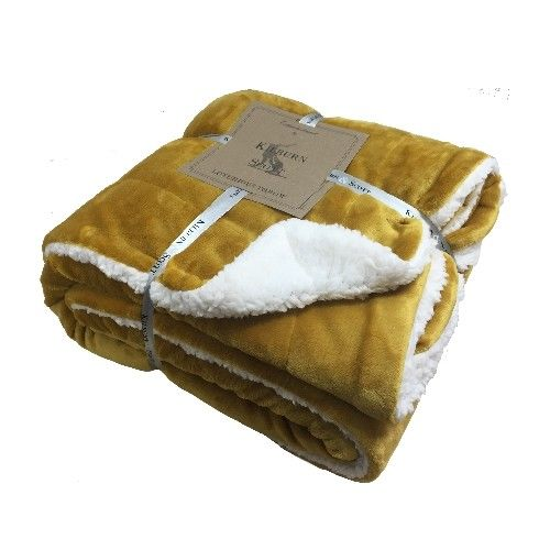 Kilburn & Scott Sherpa Throw Ochre