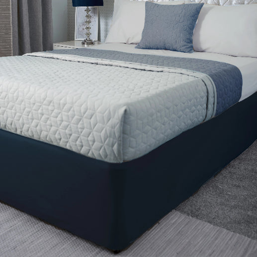Belledorm Divan Bed Base Wrap Jersey Navy Deep