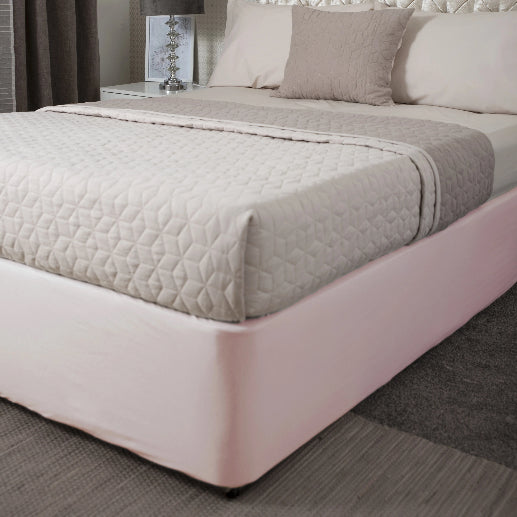 Belledorm Divan Bed Base Wrap Jersey Powder Pink Deep