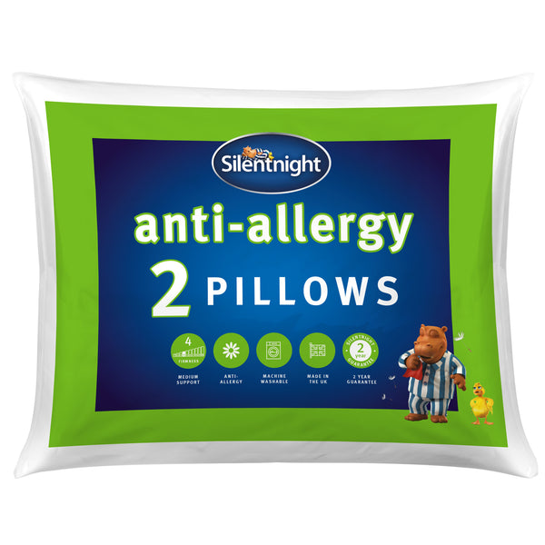 SilentNight Anti Allergy Pillow Twin Pack