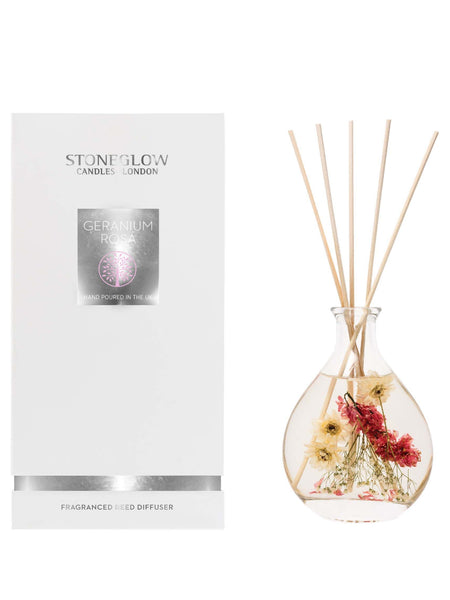 Stoneglow Candles Nature's Gift Reed Diffuser Geranium Rosa