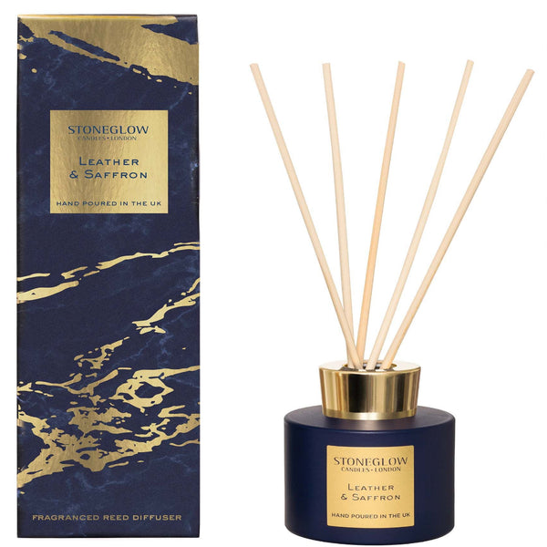 Stoneglow Candles Luna Leather and Saffron Reed Diffuser