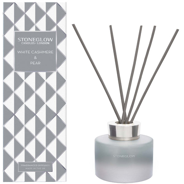 Stoneglow Candles Seasonal Collection White Cashmere & Pear Reed Diffuser