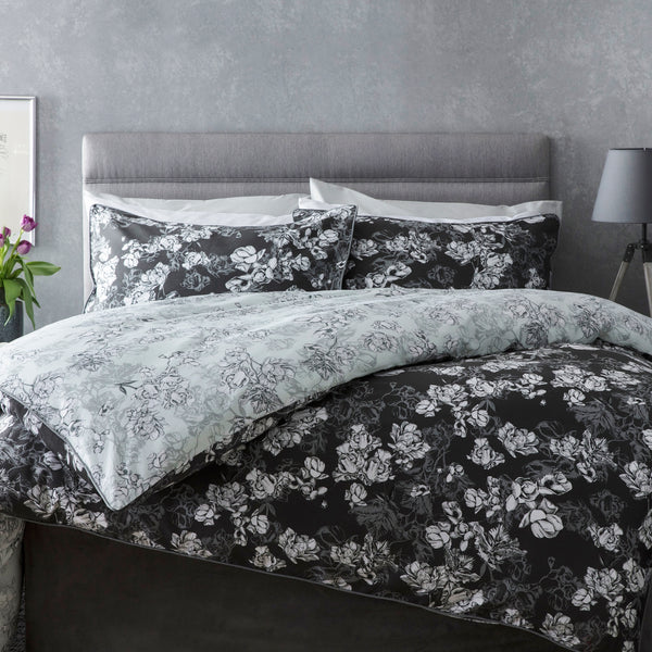Belledorm Mila Charcoal Duvet Cover Set