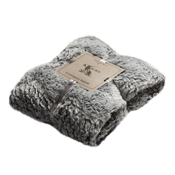 Kilburn & Scott Silver Two Tone Fur Throw