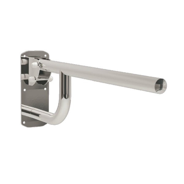 "Single Arm Drop Down Grab Rail 30"" Stainless Steel Mirror Polished to Chrome"