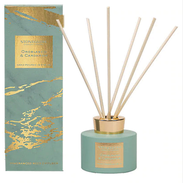 Stoneglow Candles Luna Collection Reed Diffuser Oroblanco & Cardamom