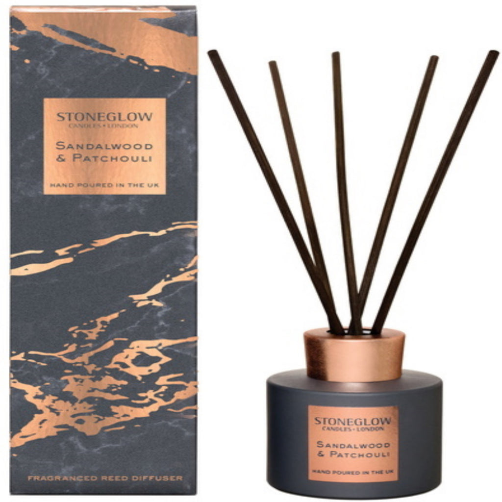 Stoneglow Candles Luna Collection Reed Diffuser Sandalwood & Patchouli