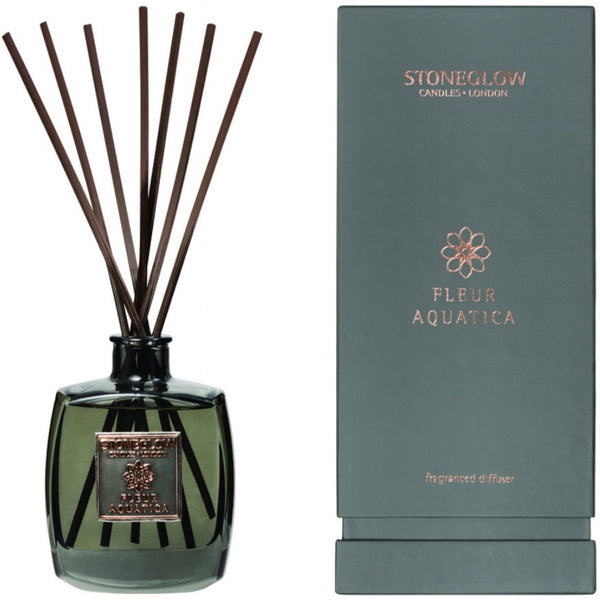 Stoneglow Candles Metallique Collection Reed Diffuser Fleur Aquatica
