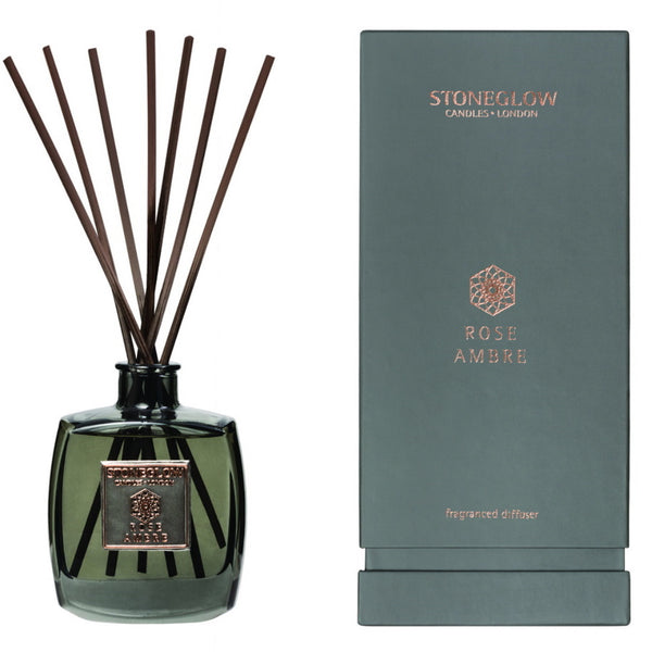 Stoneglow Candles Metallique Collection Reed Diffuser Rose Ambre