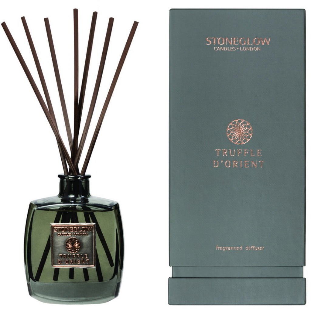 Stoneglow Candles Metallique Collection Reed Diffuser Truffle D'Orient