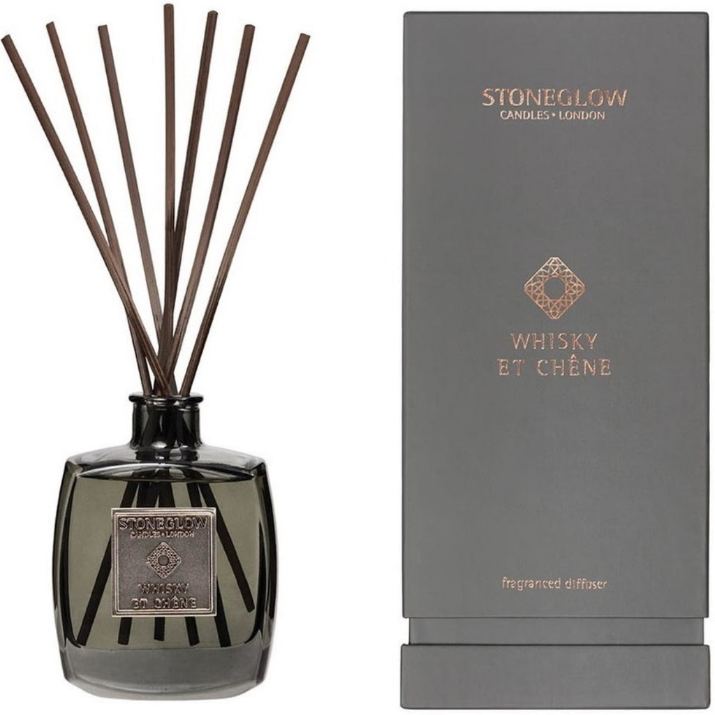 Stoneglow Candles Metallique Collection Reed Diffuser Whisky Et Chene