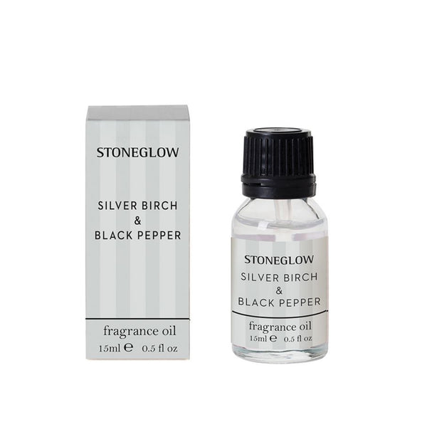 Stoneglow Candles Modern Classics NEW - Silver Birch & Black Pepper 15ml Fragrance Bottle