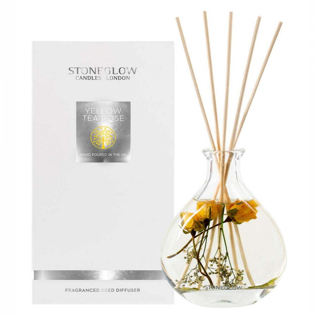 Stoneglow Candles Nature's Gift Yellow Tea Rose Reed Diffuser