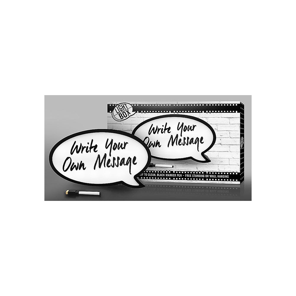 Speech Bubble Easy Clean Pen Write Your Own Message Light Up Box